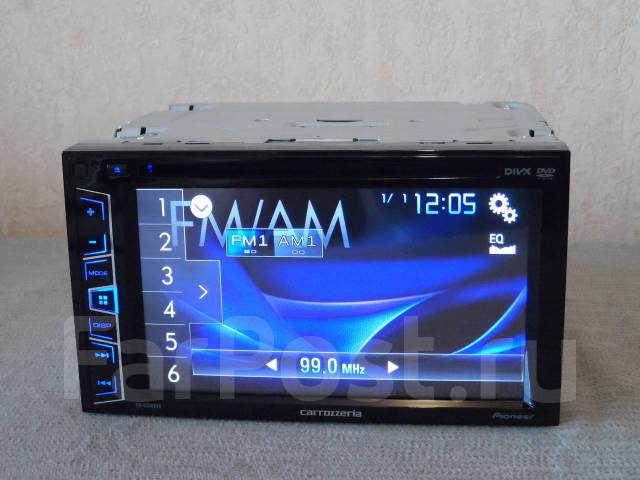Carrozzeria FH-6200DVD Процессор DSP USB MP3 FLAC CD/DVD DivX AUX