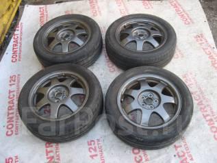 Продам летние шины 195/55R16 на литых дисках. 6.0x16 5x100.00 ET45