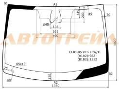 Стекло лобовое в клей renault clio iii 2005- 3/5d XYG apт.CLIO-05-VCS LFW/X