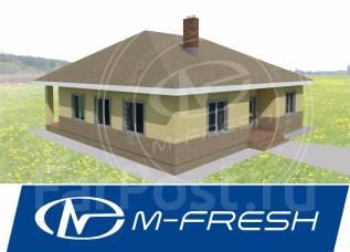 M-fresh Trali-Vali-зеркальный (Во! Какой компактный дом одноэтажный! ). 100-200 кв. м., 1 этаж, 4 комнаты, бетон
