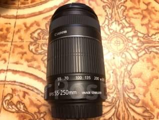 Обьектив телевик Canon Zoom Lens EF-S 55-250mm 1:4-5.6 IS STM. Для Canon, диаметр фильтра 58 мм