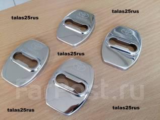 Накладки на дверные петли Toyota RAV4 06-12г. (Нержавейка. ХРОМ)