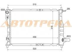 Радиатор DAEWOO/CHEVROLET Matiz, Spark (2005-) двигателя МКП - (трубчатый радиатор) SAT SG-DW0005-MT