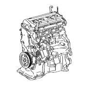 Двигатель контрактный Toyota 1,5L 1NZ-FXE VVT-i '11-'17
