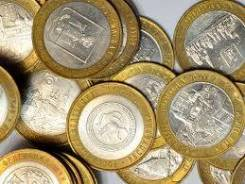 Юбилейные монеты комплектом.