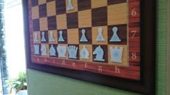 Шахматы настенные на магнитах в раме 70см*70см.