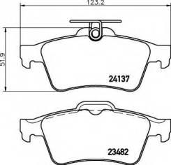 Колодки дисковые задние!\ Saab 9-3, Opel Vectra, Ford Focus 1.4-3.2 02>
