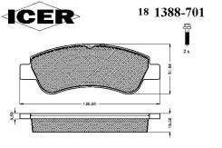 Колодки дисковые передние !\ Peugeot 307, Citroen Xsara 1.4i-2.0HDi 00>