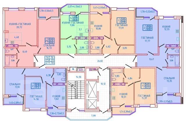 2-комнатная, Улица Героя Яцкова. ккб, частное лицо, 56 кв.м. План квартиры