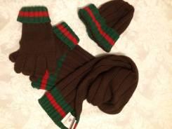 Шапка, шарф и перчатки. Рост: 152-158 см