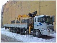 """Грузовик с краном """"кореец"""" 10/25 тонн, стрела 28 метров"""