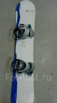 Сноуборд с креплениями и чехлом+маска. 139,00см.