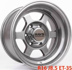 RAYS VOLK RACING TE37X. 8.5x16, 6x139.70, ET-35, ЦО 110,1мм.