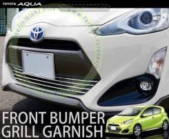 Накладка на решетку бампера. Toyota Aqua, NHP10H, NHP10