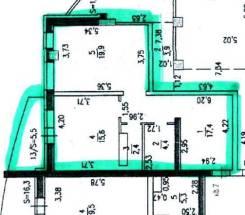 1-комнатная, Фрунзе 76. Центральный, агентство, 60 кв.м. План квартиры
