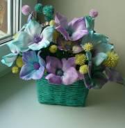 Милый подарок -фантазийные цветы ручной работы