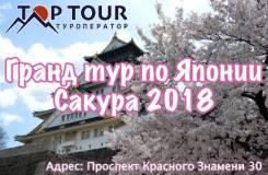 Япония. Токио. Экскурсионный тур. Эксклюзивный Гранд тур по Японии: Сакура 2018 Сборная группа!