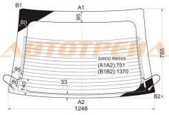 Стекло заднее (крышка багажника) с обогревом toyota nadia 2.0 wagon 98- XYG арт.SХN10 RW/H/X