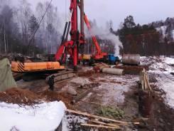Бурение под сваи, буровые работы диаметром от 600 мм до 1500 мм