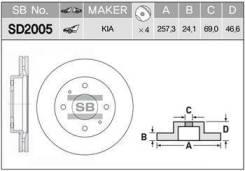 ДИСК ТОРМОЗНОЙ SD2005 (51712-2F000) SANGSIN SD2005