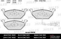 Колодки передние вкл. датчик износа (SKODA OCTAVIA (1U_, 1Z_), VW GOLF IV-VI, JE MILES E100132