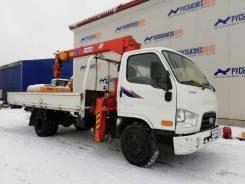 Hyundai HD78. КМУ Kanglim KS733 на шасси Hyundai HD-78, б/у (2013 г. в., 37 000 км. ), 3 930 куб. см., 4 950 кг.