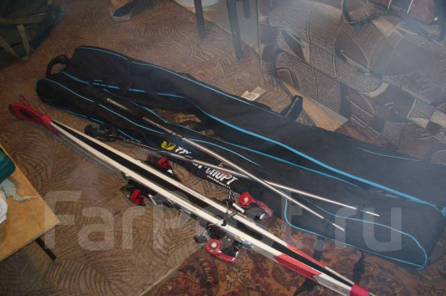 Продам комплект горнолыжный. 177,00см., горные лыжи