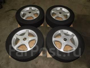 Колеса зимние 205/65R16 Nissan Laurel GC35. 7.0x16 5x100.00, 5x114.30 ET48