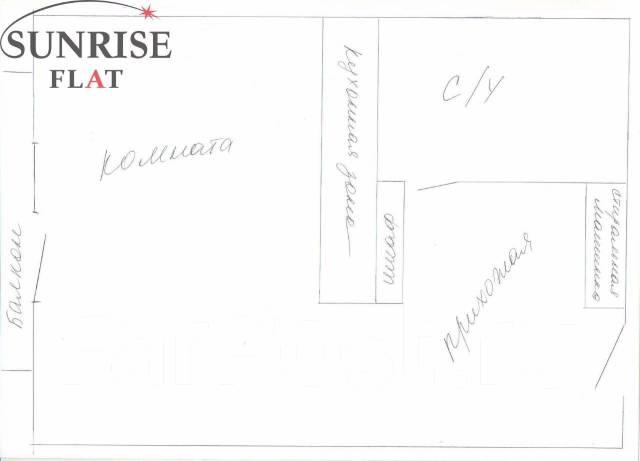 1-комнатная, проспект Красного Знамени 117д. Третья рабочая, 42 кв.м. План квартиры