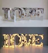 Объемные световые буквы «LOVE» для фотосессий.