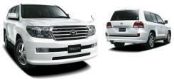Накладка на бампер. Toyota Land Cruiser, GRJ200, J200, URJ200, UZJ200, UZJ200W, VDJ200, URJ202, URJ202W Двигатели: 2UZFE, 3URFE, 1URFE, 1VDFTV, 1GRFE