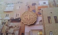Британская Индия. Нечастая 1 Анна 1944 года. Необычная форма монетки.