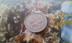 Новая Каледония. 1 франк 1991 года. Птица Кагу.