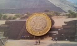 Мексика. Большие 10 песо 2007 года. Биметалл.