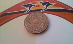 Австралия. Юбилейные большие 50 центов 1977 г. Серебренный юбилей прав
