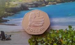Соломоновы Острова. Большой 1 доллар 2005 г. Необычная форма. Этно.