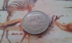 Экзотика! Малави. Семья слоников! 1 флорин 1964 г. Большая красивая мо