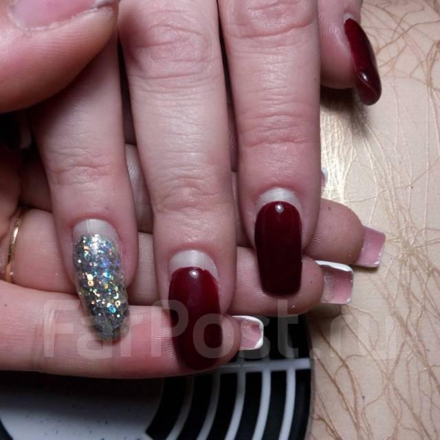 Наращивание ногтей, маникюр, гель-лак, педикюр!