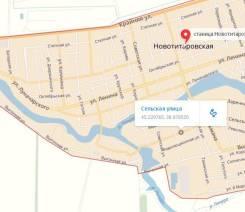 Продаю земельный участок 5.6 сот фас 25 м., ст. Новотитаровская. 560 кв.м., собственность, электричество, вода, от агентства недвижимости (посредник)