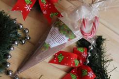Набор для приготовления какао с зефирками и новогодним леденцом