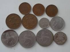 Великобритания подборка из 11 монет. Без повторов! Торги с 1 рубля!