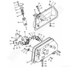 Гидробак и составные части Shantui SD16 16Y-60-00000. Shantui SD16. Под заказ