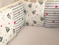 Шью бортики на детские кроватки