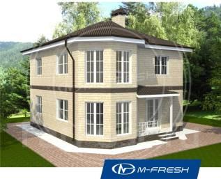 M-fresh Leonardo-зеркальный (Очень удобный дом с красивым эркером! ). 200-300 кв. м., 2 этажа, 4 комнаты, бетон