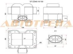 Катушка зажигания MAZDA 323 BJ/MPV LW 99-02 ST-ZZM0-18-100