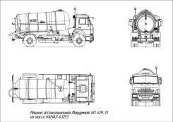Коммаш КО-529-13. Машина ассенизационная (вакуумная) КО-529-13 (шасси Камаз-43253)