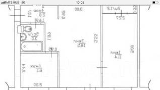 2-комнатная, улица Плеханова. Центр, агентство, 43 кв.м. План квартиры