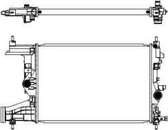 Радиатор Chevrolet Cruze/Orlando 1.8 09- / OPEL Astra J 1.6 09-/Zafira