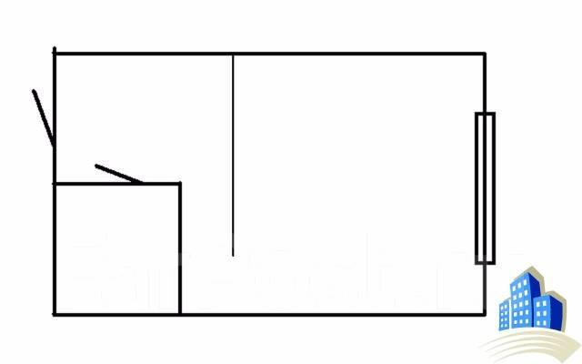 Гостинка, улица Сельская 8. Баляева, 24 кв.м. План квартиры