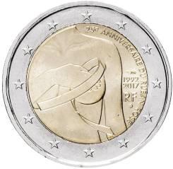 Франция 2 евро 2017 25 лет розовой ленте (компания против рака груди)